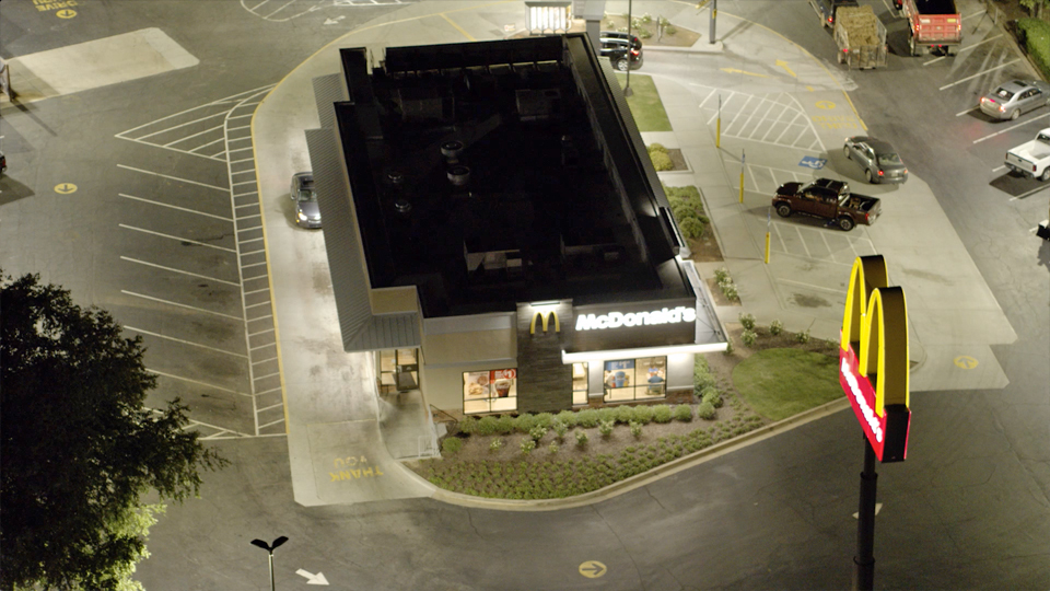 LED Lighting Installation McDonalds